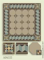 historic tile reproduction - Vienna Collection ADG22