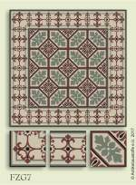 historic tile reproduction - Vienna Collection FZG7