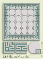 historic tile reproduction - Vienna Collection LSS-OKTO-BLAU