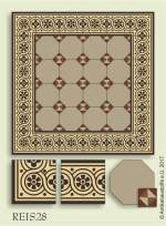 historic tile reproduction - Vienna Collection REIS28