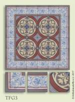 historic tile reproduction - Vienna Collection TFG3